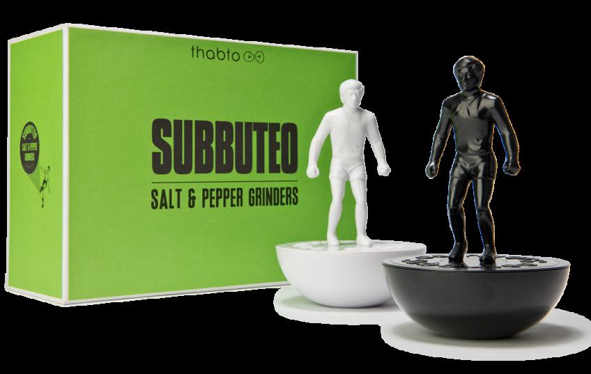 moulin sel et poivre, grinder, salt, pepper, subbuteo, football, culture populaire, culture foot, la buvette, gustave le populaire