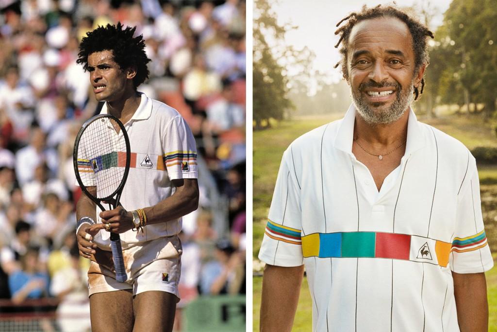 le coq sportif, revival, tennis, yannick noah, noah 1986, polo noah 1986, LCS tennis, la buvette, gustave le populaire, dorian beaune