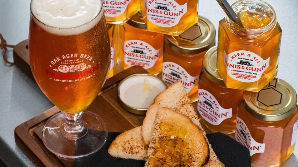 marm & ale, bière à tartiner, binouze, binche, la buvette, inis & gunn, dundee, scotland, marmalade, gustave le populaire, culture foot